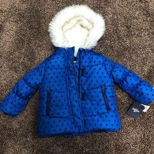 OshKosh B'Gosh puffer Faux Fur hood 2T